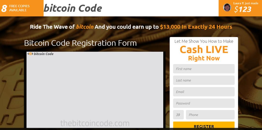 bitcoin code immagine