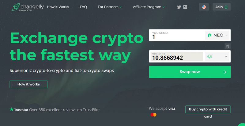 homepage changelly recensione guida