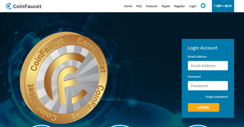 coinfaucet homepage
