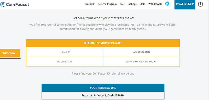 coinfaucet link referral