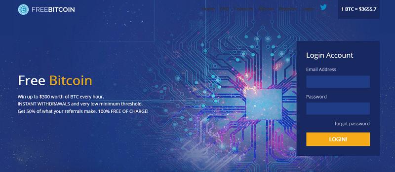 free bitcoin homepage