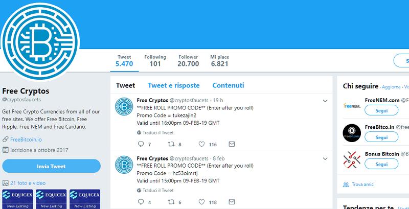 tweet for free roll
