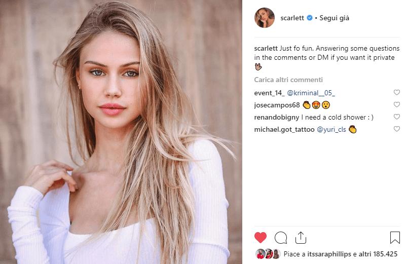 instagirl scarlett rose leithold instagram