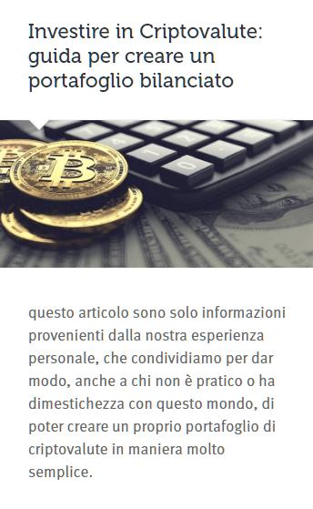 investire cripto portafoglio bilanciato