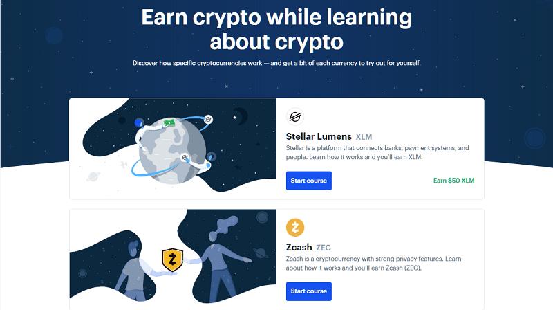 coinbase earn criptovalute gratuite