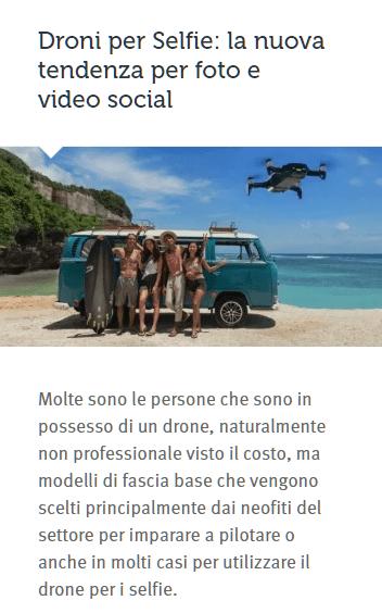 droni per selfie