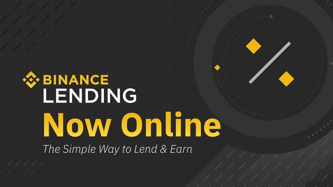 binance lending criptovalute