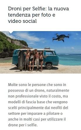 droni per selfie prncipianti
