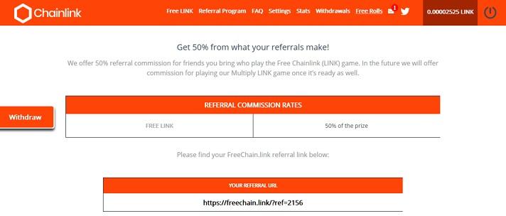 referral program freechainlink