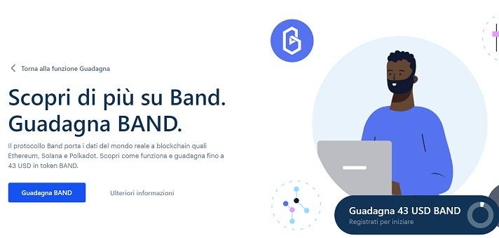 band coinbase earn