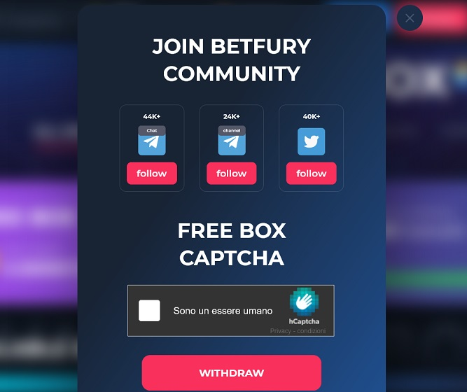 betfury captcha