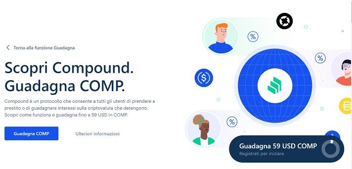 compound coinbase earn